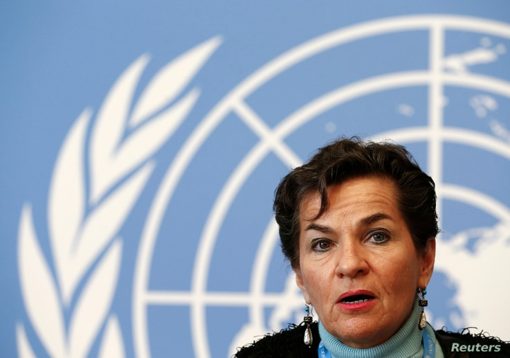 """The expansion of the draft climate change agreement will make subsequent talks """"a little bit more difficult,"""" Christiana Figueres, executive secretary of the U.N. Framework Convention on Climate Change, a weeklong preparatory meeting in Geneva, Feb. ..."""
