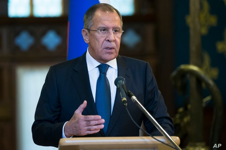 FILE - Russian Foreign Minister Sergey Lavrov speaks at a news conference in Moscow, Russia, Nov. 4, 2015. On Wednesday, Lavrov said Turkey's downing of a Russian fighter jet will change the countries' relationship.