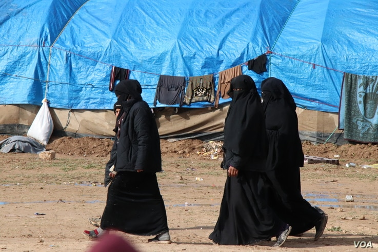 More than 90 percent of the population of al-Hol camp are women and children, and most are related to IS members, in al-Hol camp, Syria, March 4, 2019.