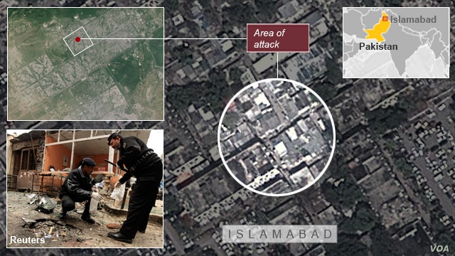 Attack at a Court in Islamabad