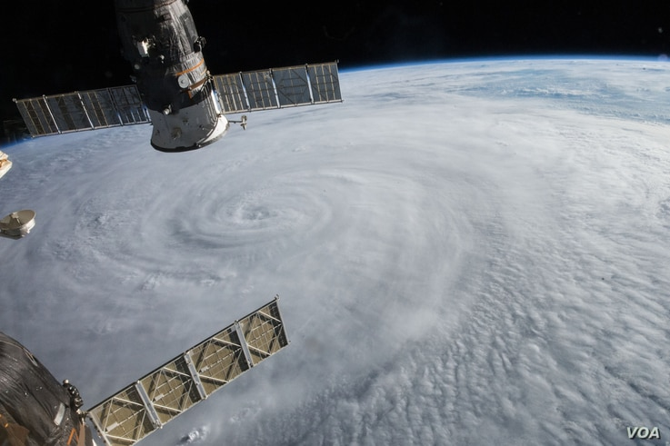 Typhoon Soudelor, as seen from the International Space Station.