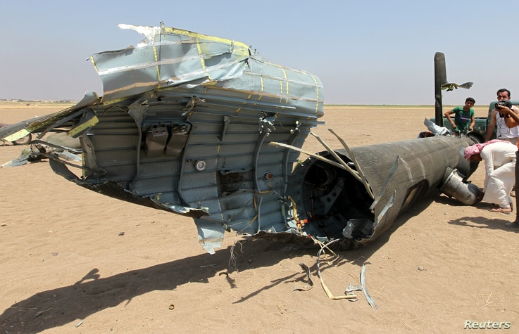 Russian helicopter shot down in the north of Syria's rebel-held Idlib province,