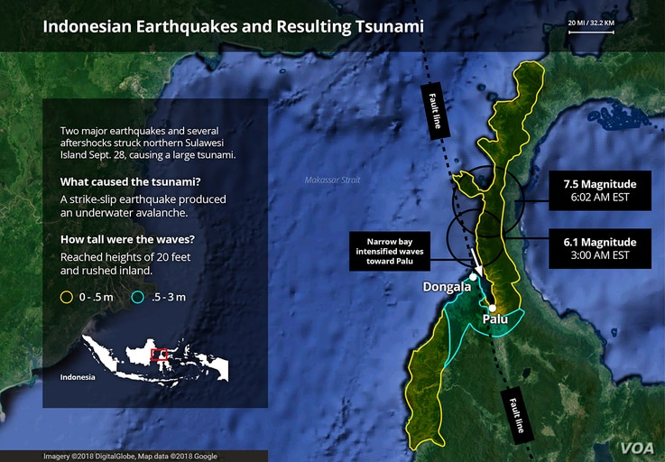 Indonesia's earthquakes and resulting tsunami: what happened.