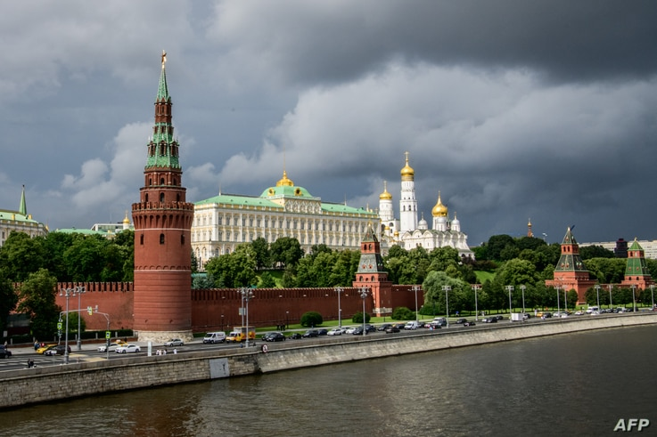 A picture taken on July 9, 2018 shows the Kremlin in Moscow.