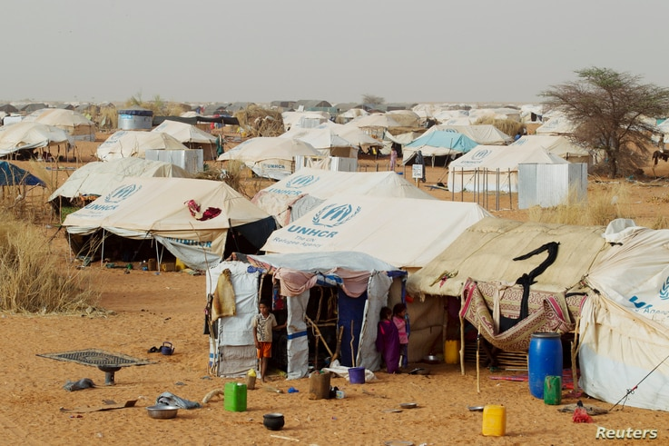 Tents set up by the United Nations High Commissioner for Refugees (UNHCR) are seen in a refugee camp for Malians in Mbera, Mauritania, about 40 km (25 miles) from the border with Mali, May 23, 2012.
