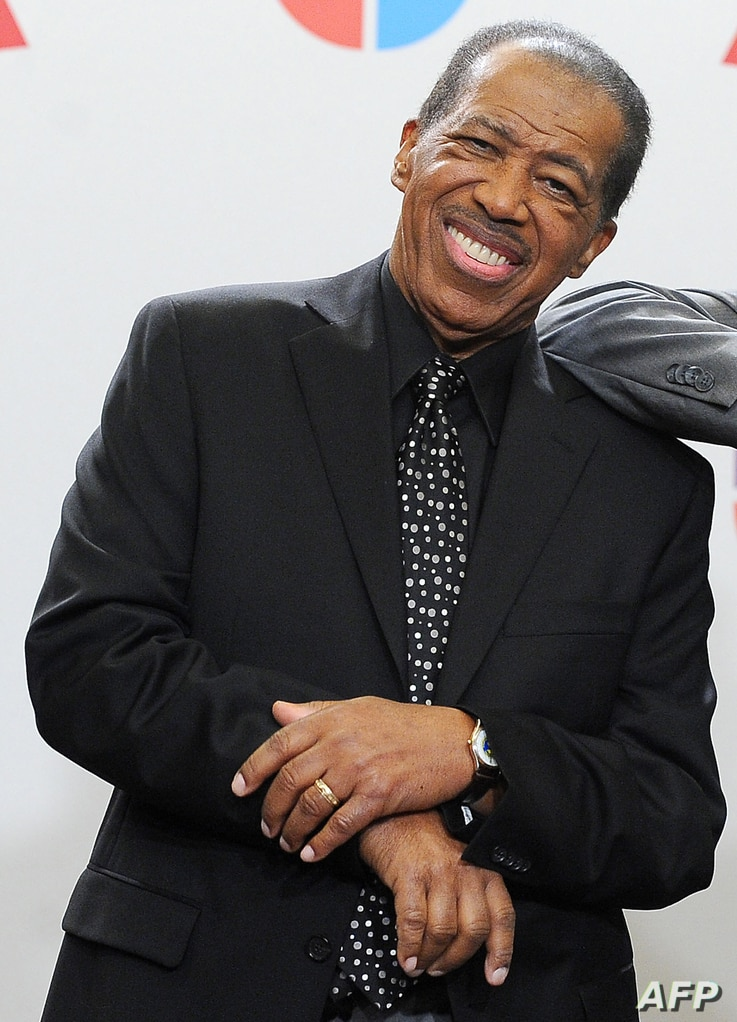 US singer Ben E King posing in the press room during the 11th Annual Latin Grammy Awards in Las Vegas, Nevada in this file photo taken on Nov. 11, 2010.