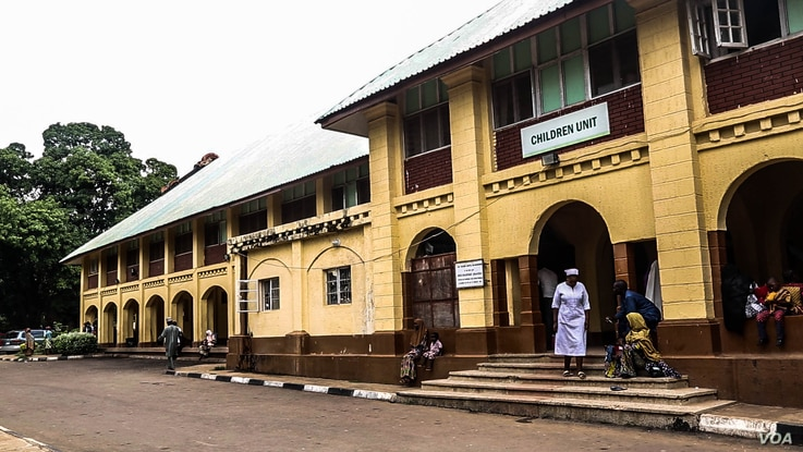 Barau Dikko Teaching Hospital in Kaduna state capital handles most of the medical report requests required for child sex abuse cases. (C. Oduah/VOA)