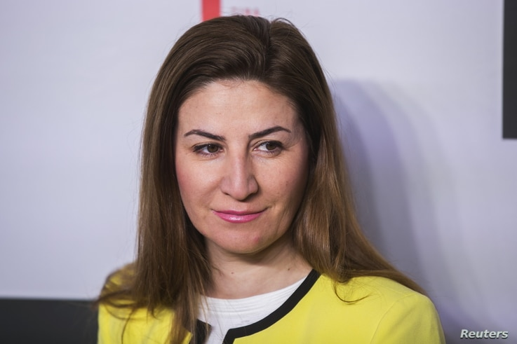 "FILE - Vian Dakhil, a Yazidi lawmaker in the Iraqi Council of Representatives, says there is an ""unwritten"" agreement among Iraqi authorities to permit abortions for Yazidi rape victims."