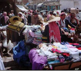 Commerce goes on as it has has for centuries in San'a, capital of Yemen, despite the political upheavals of the Arab spring.