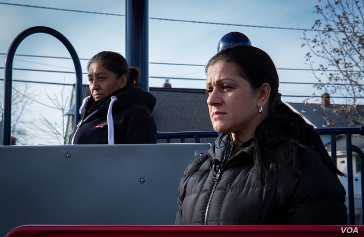 Victorina Morales, left, and Sandra Diaz are considering a civil lawsuit against the Trump Organization for workplace abuse and discrimination.