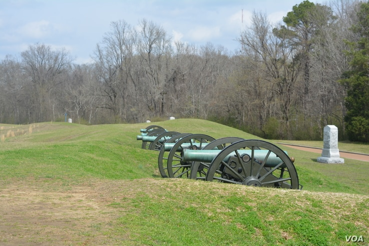 These cannons sit at what was the largest of the Union lines' artillery emplacements.