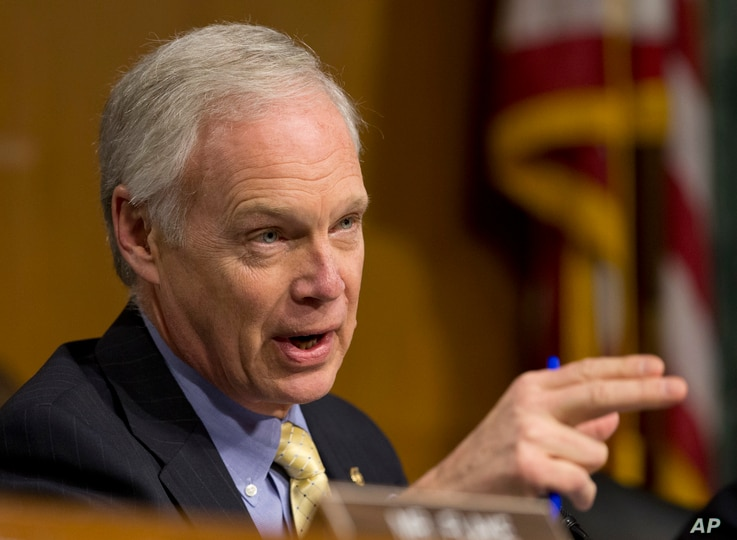 FILE - Sen. Ron Johnson, R-Wis., pictured on Capitol Hill, Jan. 11, 2017, says any probe of ties between President Donald Trump's inner circle and Russia should delve into intelligence and Justice Department leaks to the news media about information ...