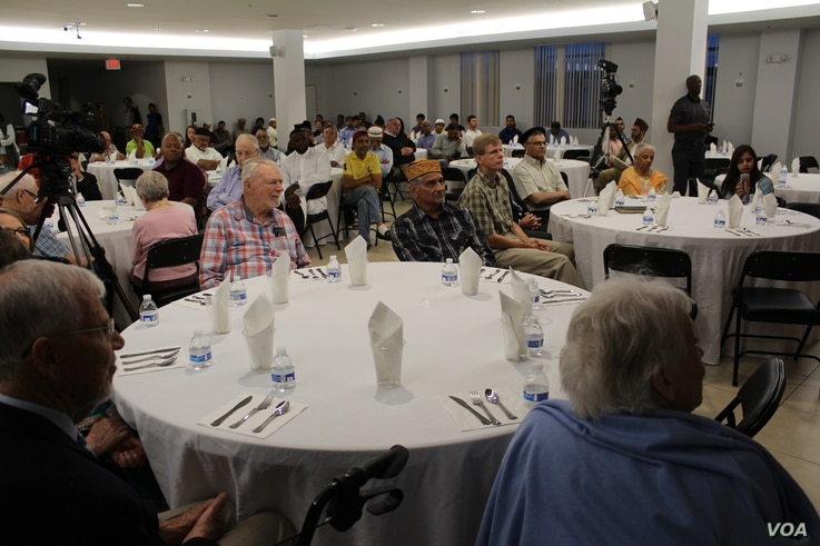 Muslims around the world are observing the holy month Ramadan, which includes fasting from sunrise to sunset. At the Bait-ur-Rehman Mosque in Silver Spring, Maryland, about 200 people gathered for an after-sunset iftar dinner. (Courtesy - Bait-ur-Reh...