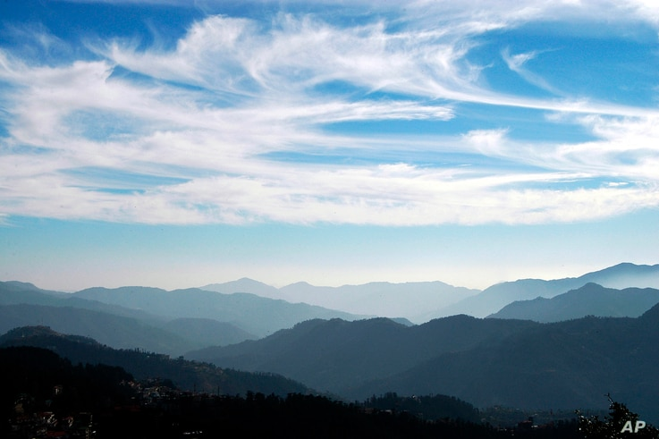 "FILE - The Himalayan mountain range is seen on ""International Mountain Day"" from Shimla, India, Dec. 11, 2008."