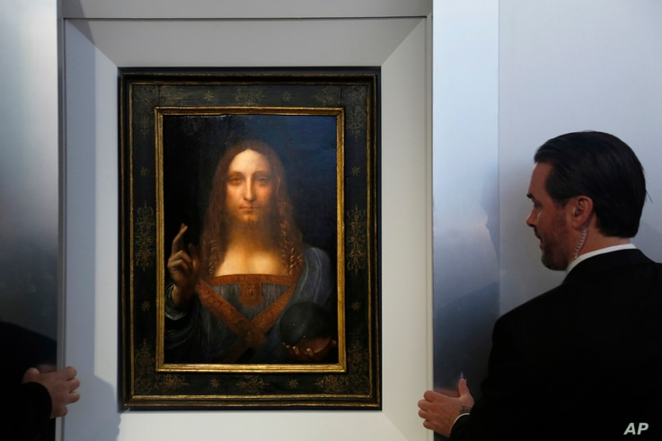 """Alan Wintermute, Christie's senior specialist for Old Master paintings, referred to da Vinci's """"Salvator Mundi"""" as """"truly the Holy Grail of art rediscoveries."""""""