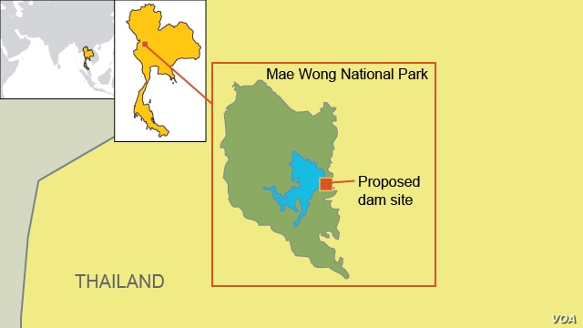 Proposed Dam Site Near Mae Wong National Park,Thailand