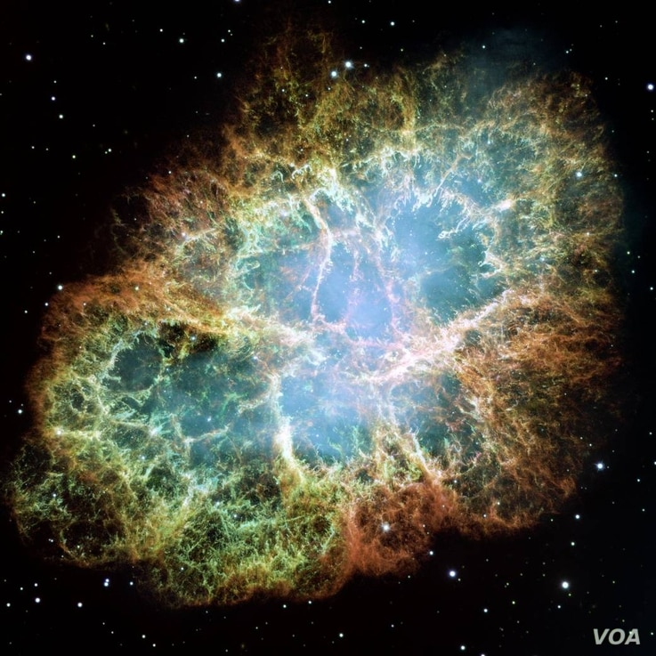 The Crab Nebula is the result of a stellar explosion which you can see with a pair of binoculars now. In 1054, humans everywhere thought a new star had appeared out of nowhere. Luckily for them, the explosion happened 6500 light years away.