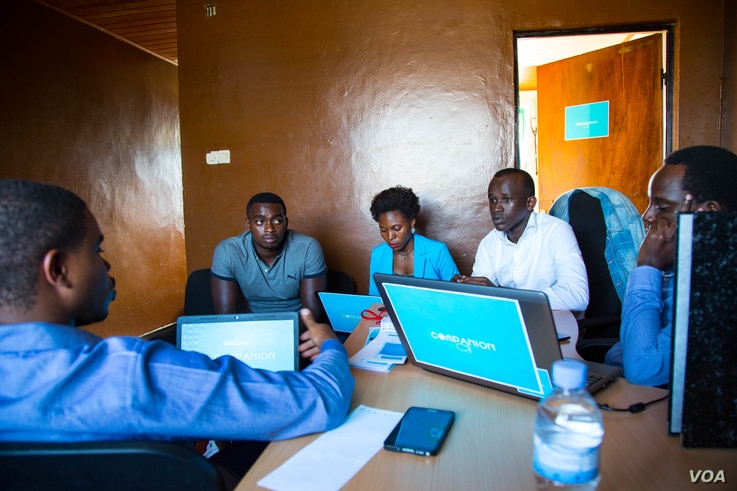 This team based in Kigali, Rwanda created a mobile app to help HIV patients keep up with their treatment. The team was among the finalists who competed at this year's Next Einstein Forum's innovation competition.