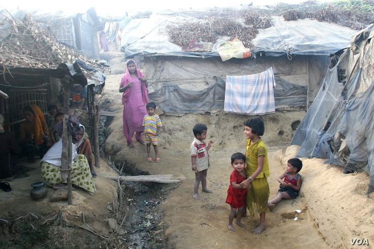 Rohingyas who fled Myanmar over the past decades live in this decrepit Kutupalong illegal Rohingya refugee colony in Cox's Bazar district, Bangladesh. Bangladesh stopping registering the Rohingya refugees in 1992, and now almost 90 percent of Bangl...