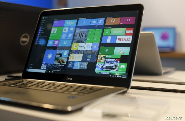 A laptop computer featuring Windows 10 is seen on display at Microsoft Build in San Francisco, California April 29, 2015.