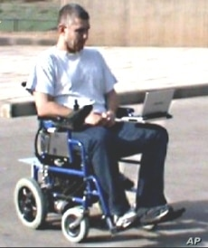 This wheelchair is equipped with electronics that are controlled by user sniff signals.
