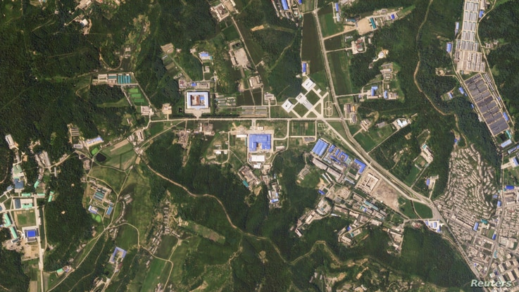 A satellite image shows the Sanumdong missile production site in North Korea, July 29, 2018. (Planet Labs, Inc)