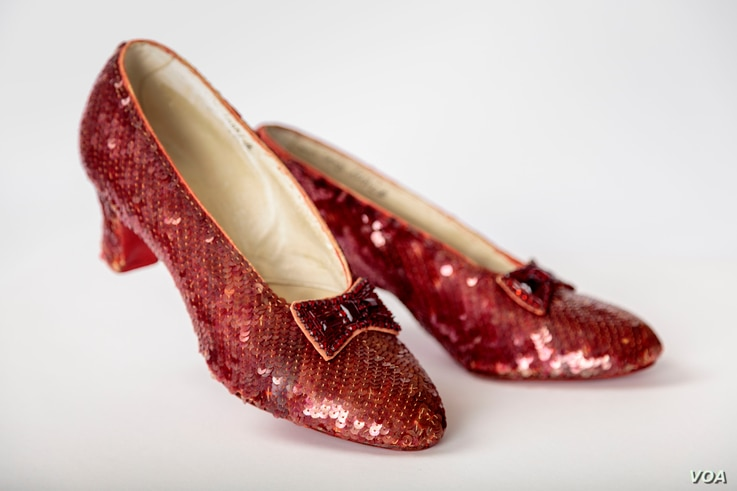 Ruby slippers, designed by Adrian, from The Wizard of Oz (1939), will be among the exhibits at the Academy Museum of Motion Pictures in Hollywood.