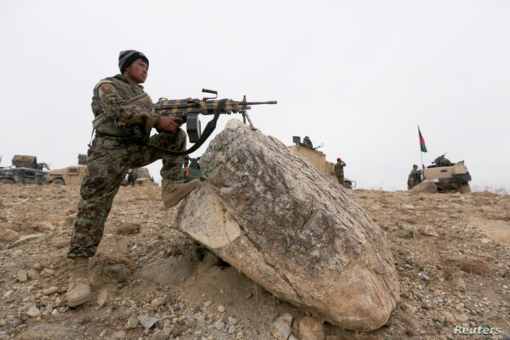 The Afghan National Army  prepare for an operation against insurgents in Khogyani district of Nangarhar province, Afghanistan Nov.  28, 2017.