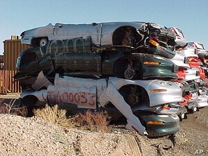 When GM's electric vehicle program was killed in the 1990s, the vehicles were crushed in the Nevada desert.