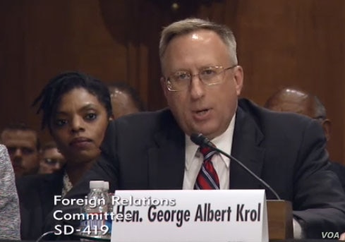 George A. Krol testifying to be the next US ambassador in Kazakhstan