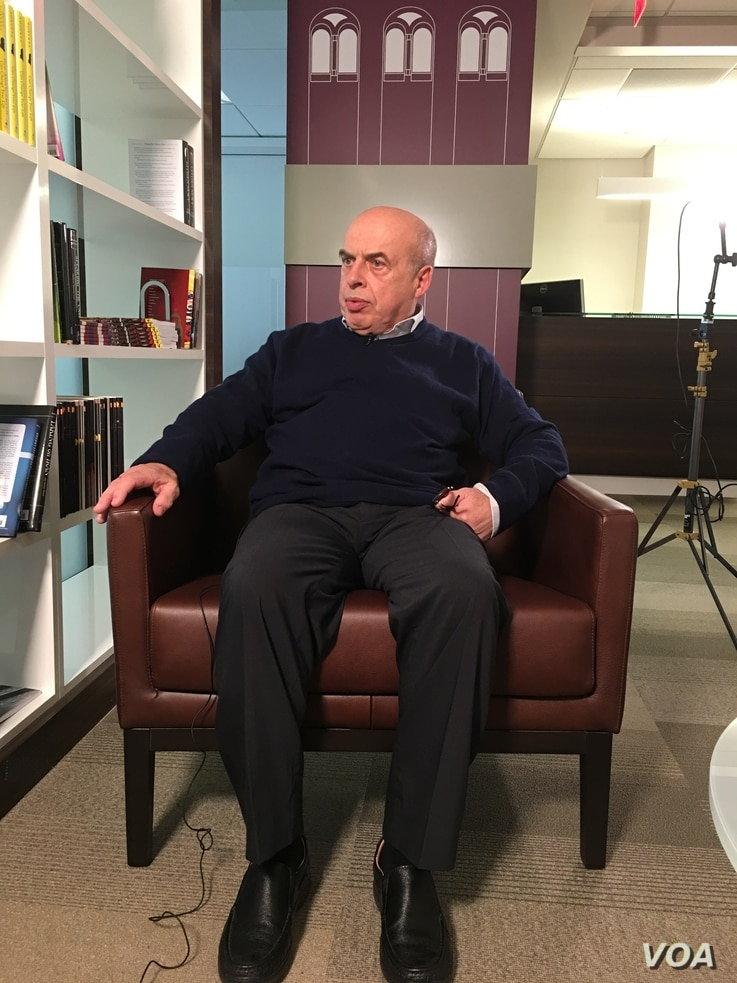 Natan Sharansky is interviewed at the Hoover Institution at Stanford University in Washington, D.C.