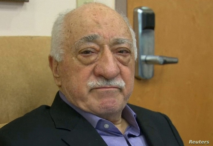 US-based cleric Fethullah Gulen, whose followers Turkey blames for a failed coup, is shown in still image taken from video, as he speaks to journalists at his home in Saylorsburg, Pennsylvania, July 16, 2016.