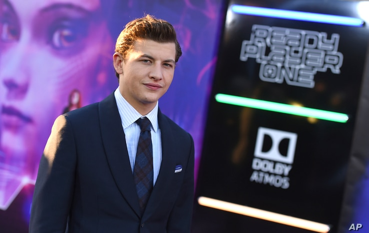 "Tye Sheridan arrives at the world premiere of ""Ready Player One"" at the Dolby Theatre on Monday, March 26, 2018, in Los Angeles."