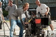 Director/Executive Producer Michael Bay on the set of TRANSFORMERS: