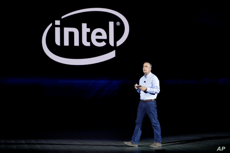 l CEO Brian Krzanich delivers a keynote speech at CES International, Jan. 8, 2018, in Las Vegas.