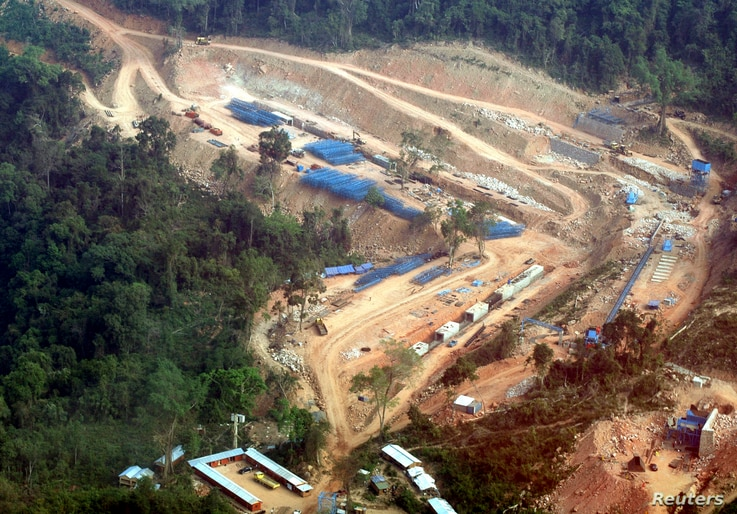 A view of the Kamchay hydroelectric project in Kamport province, 146 km  west of Phnom Penh, March 22, 2008. In the last two years, Cambodia's Prime Minister Hun Sen has agreed to at least four Chinese-funded hydropower projects as part of a $3 billi...