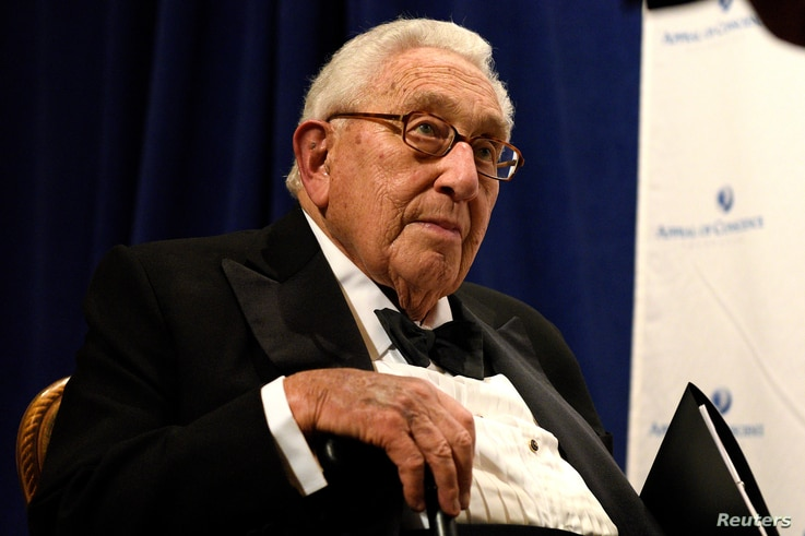FILE - Former U.S. Secretary of State Henry Kissinger, who met with President Vladimir Putin on a trip to Russia, February, 2016, will reported meet with Donald Trump, Thursday, Nov. 17, 2016.