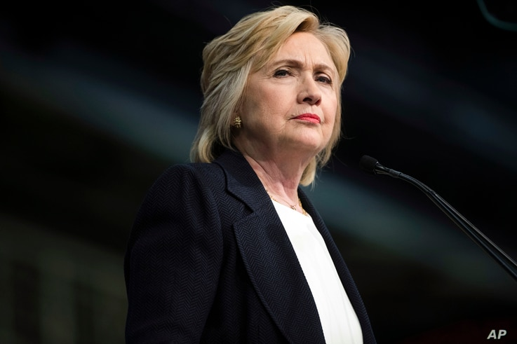 Democratic presidential candidate Hillary Clinton speaks at the African Methodist Episcopal church national convention in Philadelphia, July 8, 2016.
