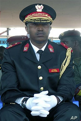 Former Congolese warlord Bosco Ntaganda in his national army uniform, before becoming a rebel general, attends the 50th anniversary celebration of Congo's independence in Goma in eastern Congo, June 2010. (file photo)