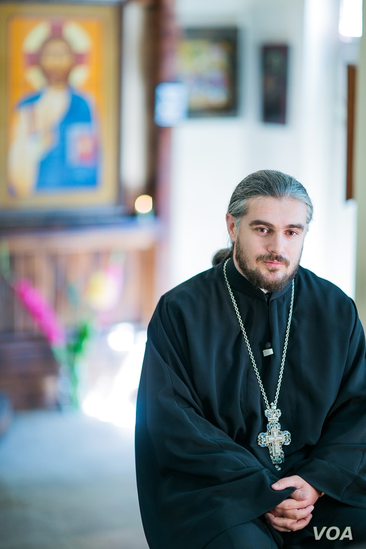 Georgian Orthodox Priest Shalva Kekelia asked gay leaders not to hold the May 17 rally in downtown Tbilisi and says he and other priests tried unsuccessfully to contain the thousands of counter-demonstrators. (Vera Undritz for VOA)