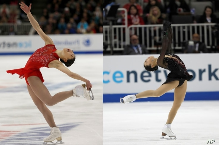 U.S Figure Skaters Mirai Nagasu and Karen Chen