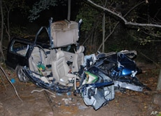 The aftermath of the accident that killed 15-year-old Ryan Didone.