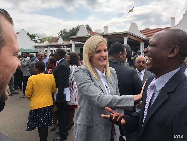 Kirsty Coventry, Africa's most decorated Olympian is now Zimbabwe's minister of sports and youths, Harare, Sept. 10, 2018.