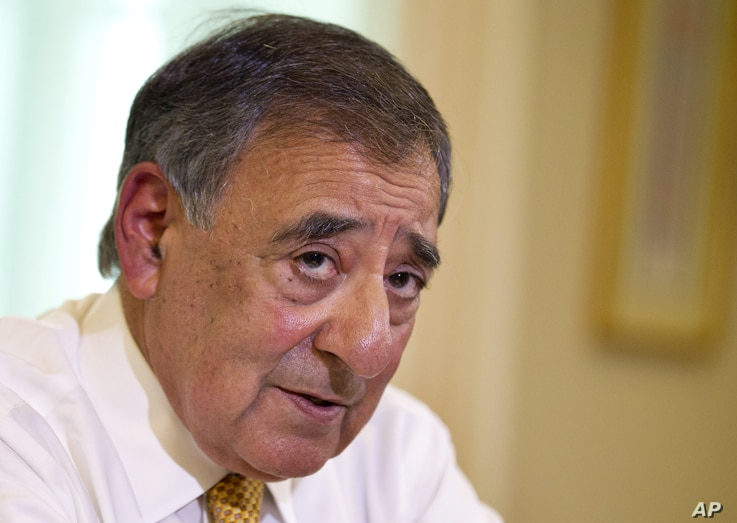 Defense Secretary Leon Panetta is interviewed by The Associated Press at the Pentagon, August 13, 2012.