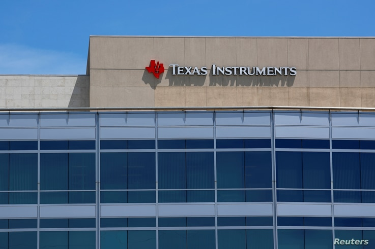 A Texas Instruments Office is shown in San Diego, California, April 24, 2018.