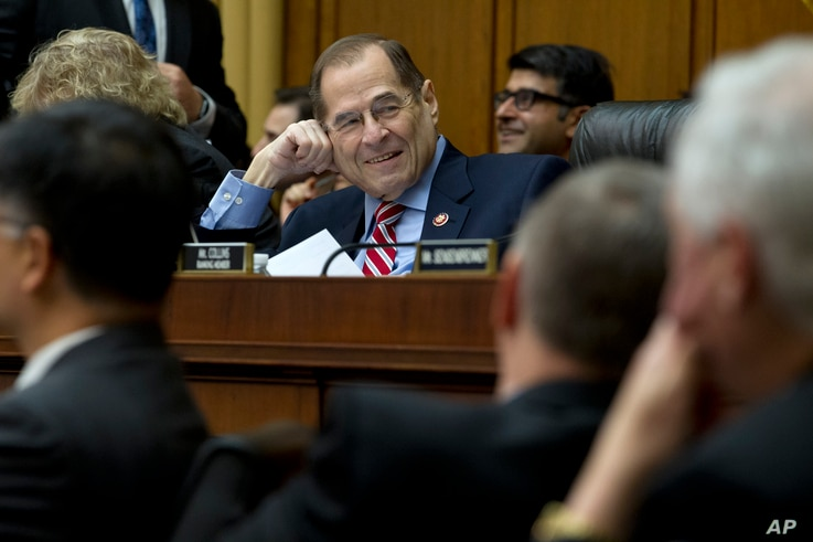 House Judiciary Committee Chairman Rep. Jerrold Nadler, D-NY, speaks during a House Judiciary Committee debate to subpoena Acting Attorney General Matthew Whitaker, on Capitol Hill in Washington, Feb. 7, 2019.