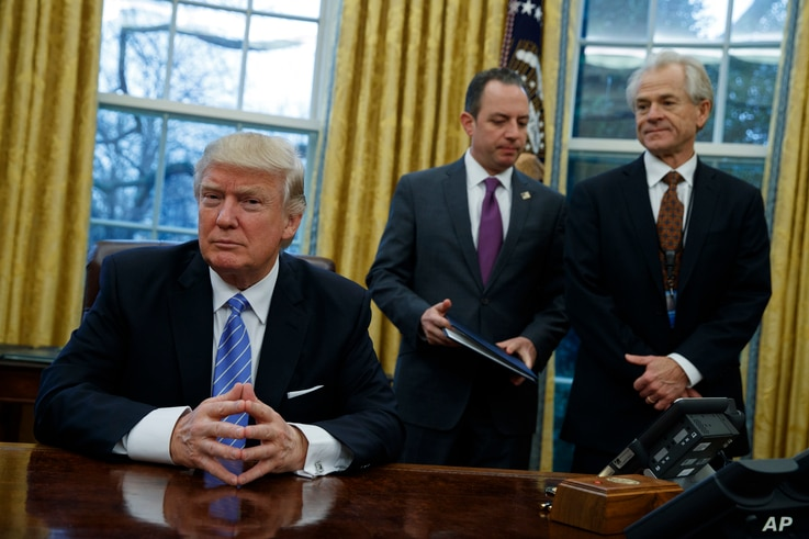 National Trade Council adviser Peter Navarro, pictured at the White House in late January, says NAFTA could be transformed into two parallel U.S. bilateral deals with Canada and Mexico, or a modernization of the current trilateral deal.