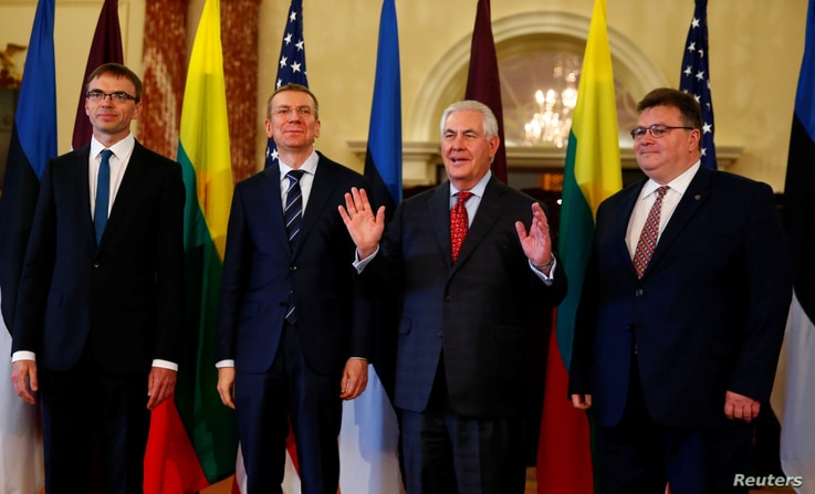 Tillerson w/ European foreign minsters
