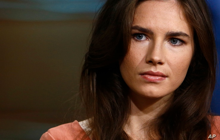 Amanda Knox during an interview on the 'Today' show in New York, Sept. 20, 2013.