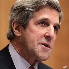 Senate Foreign Relations Committee Chairman Sen. John Kerry, D-Mass., makes a statement on Capitol Hill in Washington (File Photo)